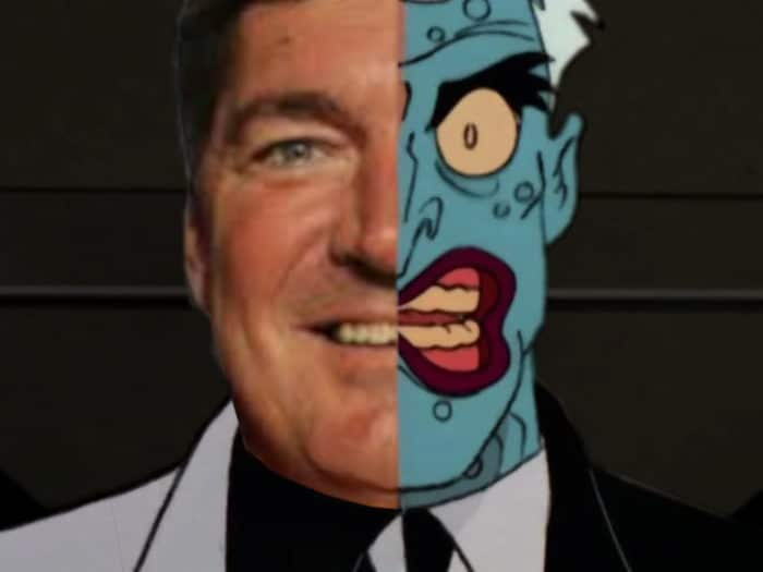 Bill Laimbeer double face