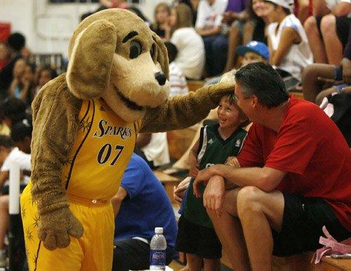 Sparky, la mascotte des Los Angeles Sparks